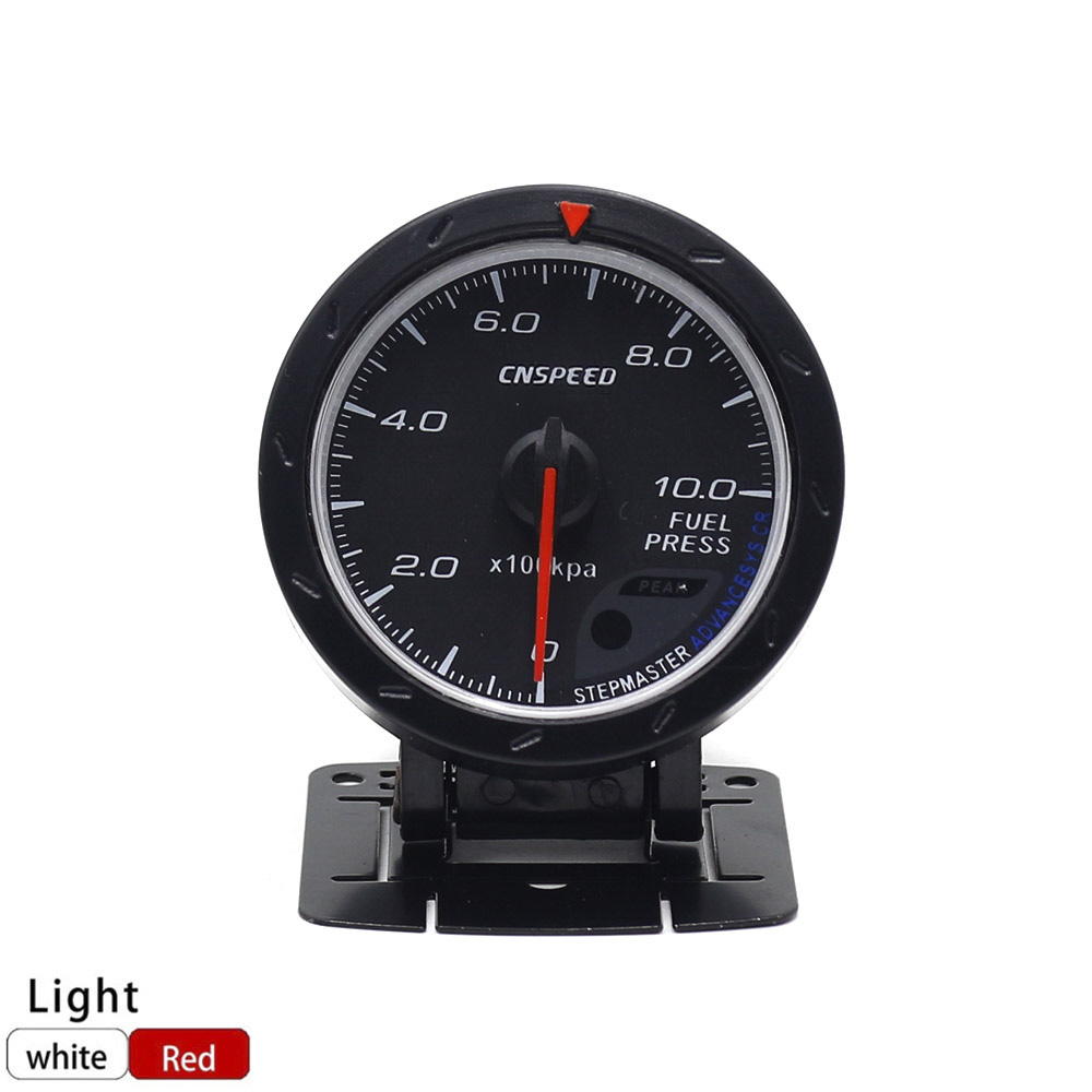 цена на CNSPEED 60MM Racing Car Fuel Pressure Gauge 0-10BAR Fuel Press Gauge & Light Auto Fuel Pressure Gauge TT101170