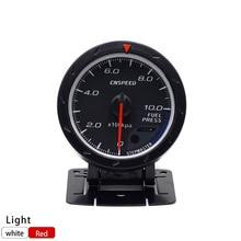 CNSPEED 60MM Racing Car Fuel Pressure Gauge 0-10BAR Fuel Press Gauge & Light Auto Fuel Pressure Gauge TT101170