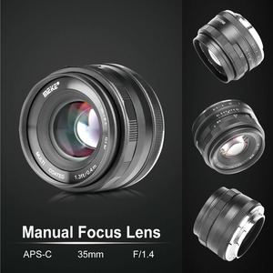 Image 3 - Meike 35mm f1.4 Large Aperture Manual Focus APS C lens for Sony NEX3/3N/5/5T/5R/5N/NEX6/7/a5000/a5100/a6000/a6300 + Gift
