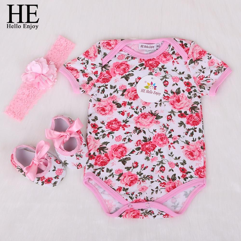 HE Hello Enjoy Mewborn font b Baby b font Clothes Girls Body Infantis Short font b