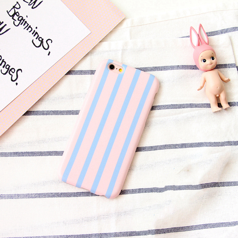 Blue and Pink polka dot striped phone Cases for iPhone 6 6S 6plus 6Splus 7 7plus Simple Soft TPU Cute Cellphone Case