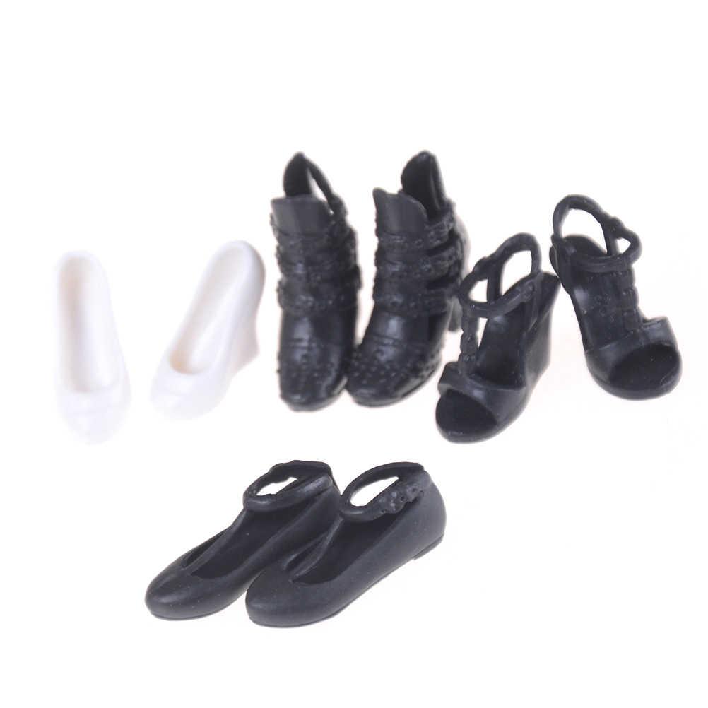 1 par/2 uds. Sandalias de tacón alto zapatos de cristal de imitación de cuento de hadas ropa de muñeca colorida vestido para Barbie accesorios de bricolaje juguetes para niños