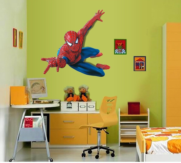Aliexpress.com: Compre Large Spiderman Wall Stickers Kids Safeguard Feeling  Decoration Movie Hero Wall Papers For Boys De Confiança Spiderman Wall  Stickers ... Part 89