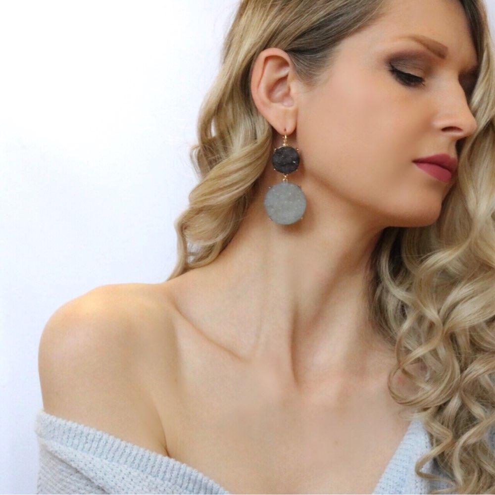 Drop Ohrringe für Frauen Nette Minty Hängen Gesättigten Farbe Stein Ohrringe Modeschmuck Geschenk für Mädchen ER51107