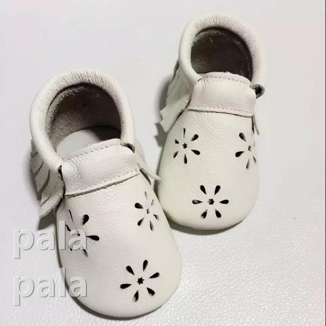 Hign Quality 10.5-14.5cm Cute Infant Toddler Baby Shoes Girl  Soft Sole  cow leather Prewalker First Walker