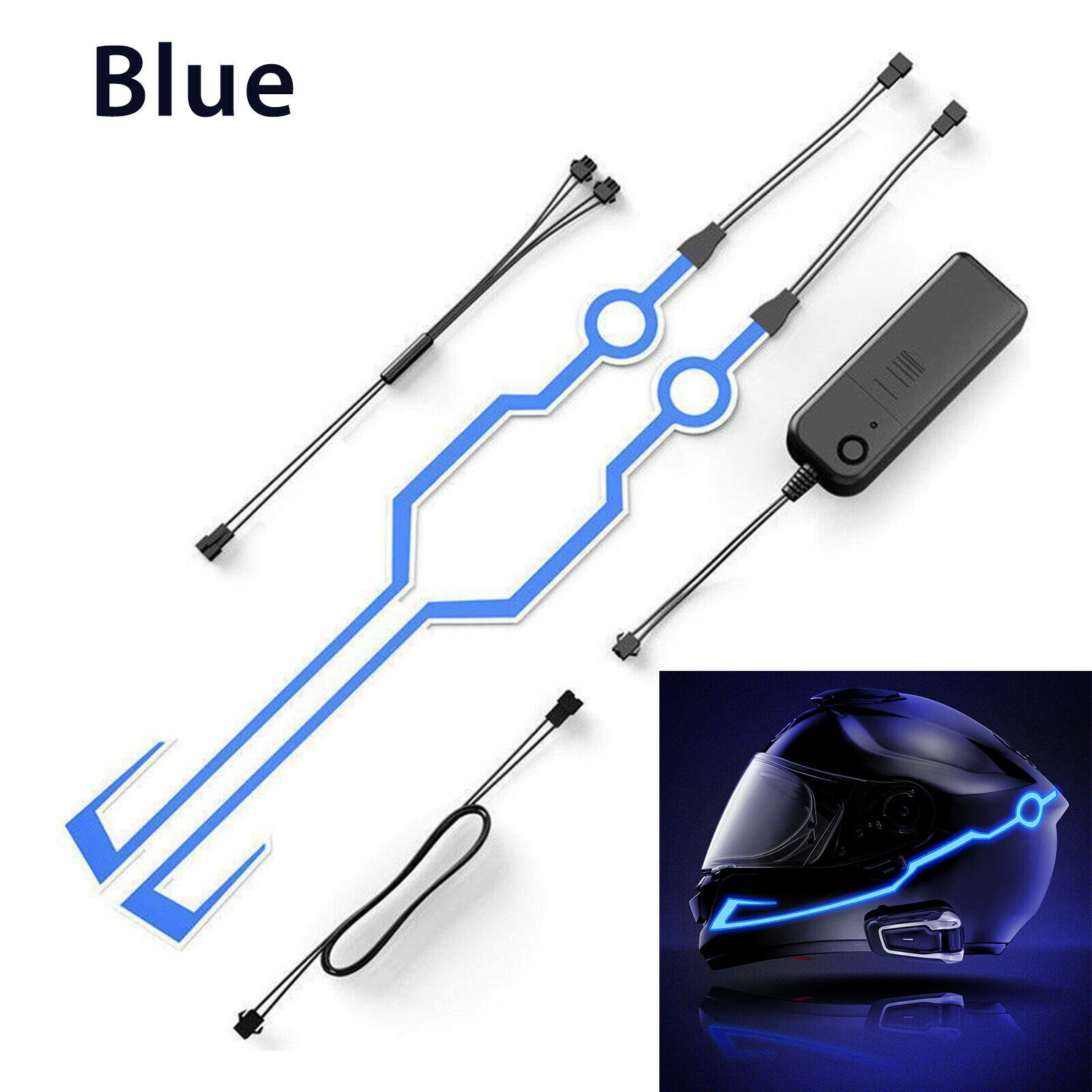 2019 Waterproof Helmet Motorcycle Light Riding Signal EL Strip Flashing LED Durable Kit Bar DIY Drop Shipping