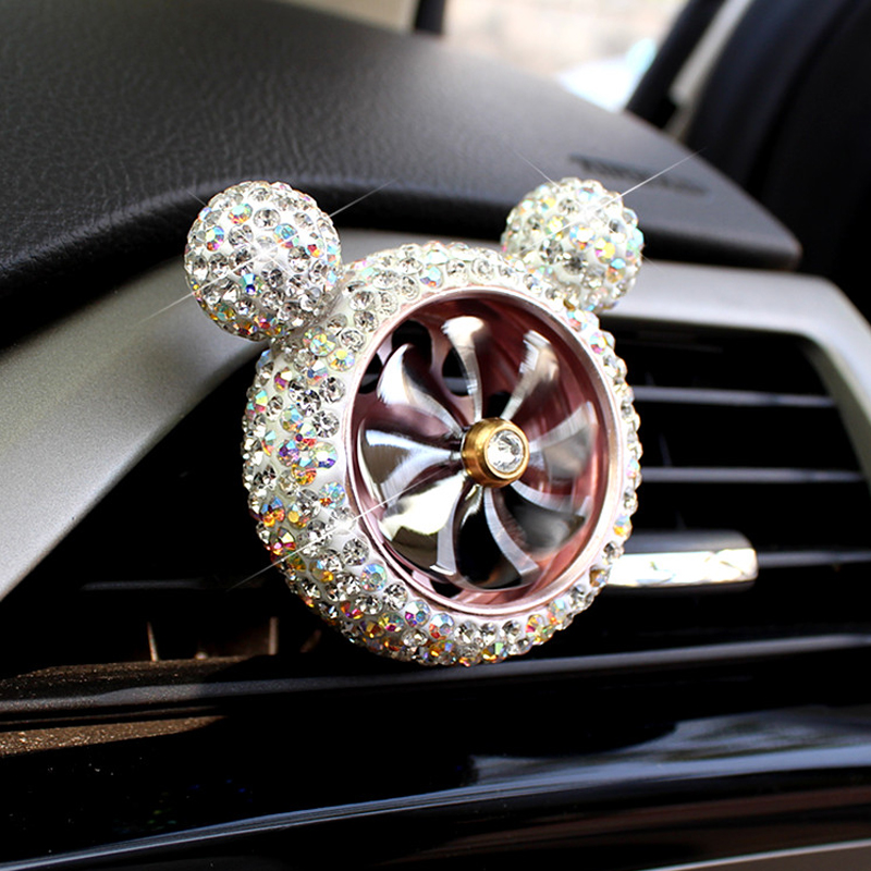 Image 3 - 1 Pcs Crystal Car Air Freshener Auto Outlet Perfume Vent Air Freshener Conditioning Clip Car Fragrance Diffuser Solid Perfume-in Air Freshener from Automobiles & Motorcycles