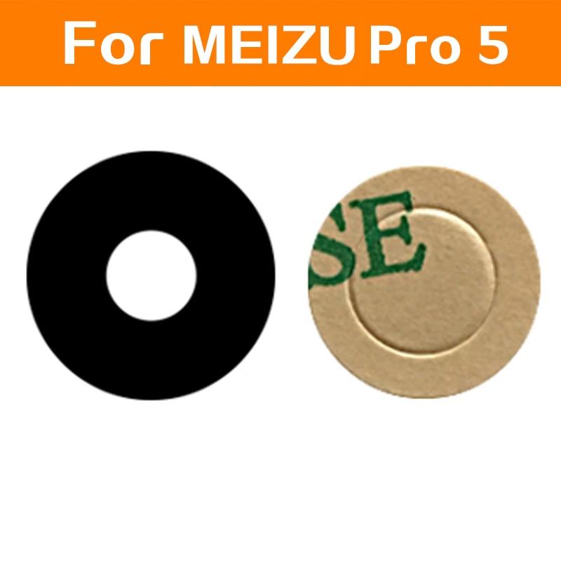 100% Genuine rear glass lens for MEIZU PRO 5 PRO 6 Main back camera lens glass material + sticker mobile phone accessory parts