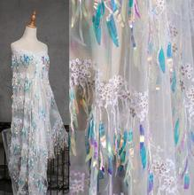 2style Fish scale sequins laser gradient color lace textiles Mesh fabric dress diy laser wedding gauze party tweed fabric A435 2style wave pleated small texture stereo textiles cotton fabric dress sequins diy laser wedding gauze party tweed fabric a424
