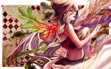 Art kirin no hinote girl feathers women vector angels Home Decoration Canvas Poster