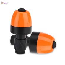 Orange 2 x Bicycle Handlebar Light Power By 2*CR2032 Button Battery 2 Lighting Modes Safety For Bicycle Night Driving