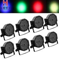 Iluminación para escenario de Hongyi 8 Uds./lote luces par LED de alta potencia 36X1W DMX512 control de sonido escenario luz grande concierto teñido luces dj d