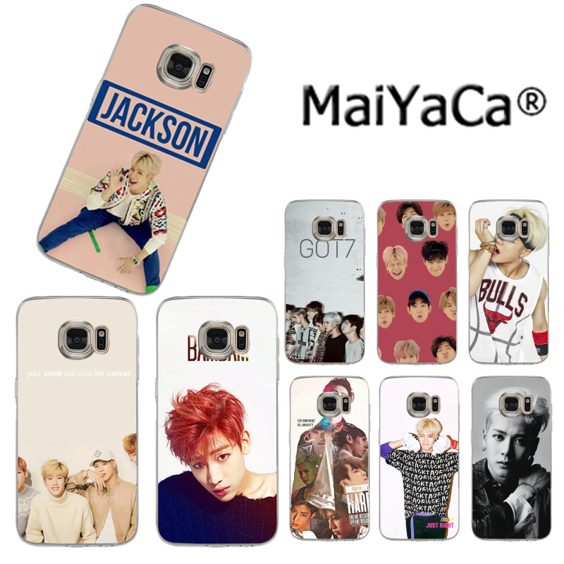 US $1 12 49% OFF|MaiYaCa GOT7 kpop jackson Luxury Quality Phone Case for  Samsung S3 S4 S5 S6 S6edge S6plus S7 S7edge S8 S8plus-in Half-wrapped Case