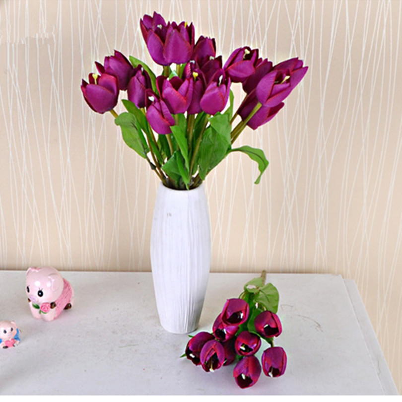 Peachy Us 99 0 45 Off 50P Artificial Tulip Bunch 6 Heads Fake Tulips Flower 30Cm 9 Colors For Wedding Centerpieces Home Party Decorative Flowers In Download Free Architecture Designs Intelgarnamadebymaigaardcom