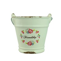 Metal And Ceramic Pot Flowers Garden Buckets Pot Pail Arts Crafts Wedding Favours Decorative Ceramics Buckets