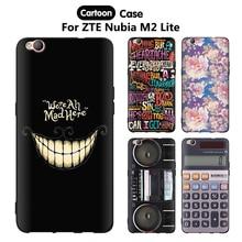 JURCHEN Case For ZTE Nubia M2 Lite Case Cover Silicone Cartoon Cute 3D Luxury Soft TPU Back Cover For ZTE M2 Lite Case 5.5″ Capa