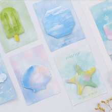 2pcs/lot Summer color post notes weekly plan Sticky Memo Pad kawaii stationery School Supplies Planner Stickers Paper 2pcs lot kawaii british style memo pad weekly plan sticky notes post stationery school supplies planner paper stickers
