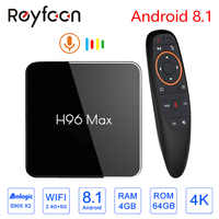 Smart TV Box 4GB 64GB H96 MAX X2 Android 8.1 Amlogic S905X2 USB3.0 1080P H.265 4K Set Top Box Google Player Store Youtube H96MAX