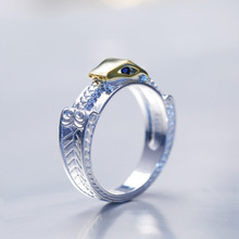 Huitan Creative Ring Two-Tone Snake Unisex Euro New Arrival Punk Stylish Sliver Plated Super For Friends Wholesale