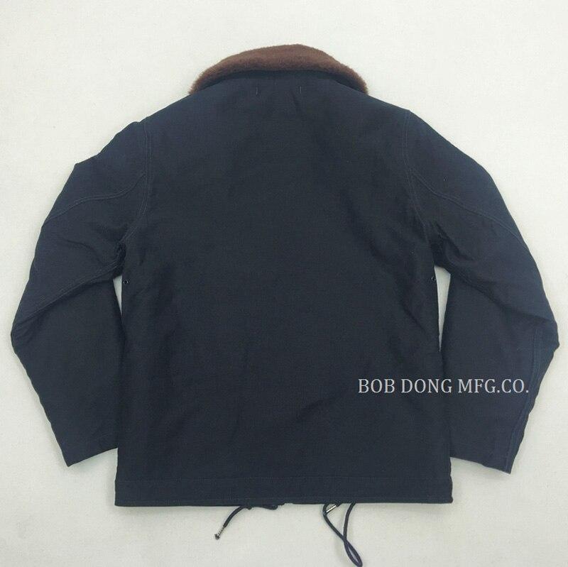 2018 BOB DONG USN N 1 Mens VOR HAKEN & ZIPPER DECK JACKE Mantel N 1D Vintage Slim Fit Winter N1 Parka homme Kleidung Deri Ceket-in Jacken aus Herrenbekleidung bei  Gruppe 3