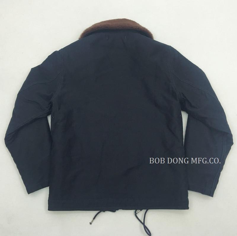 2018, BOB DONG USN N 1 para gancho de frente y cremallera cubierta chaqueta abrigo N 1D Slim Fit invierno N1 Parka ropa de hombre Deri Ceket-in Chaquetas from Ropa de hombre    3