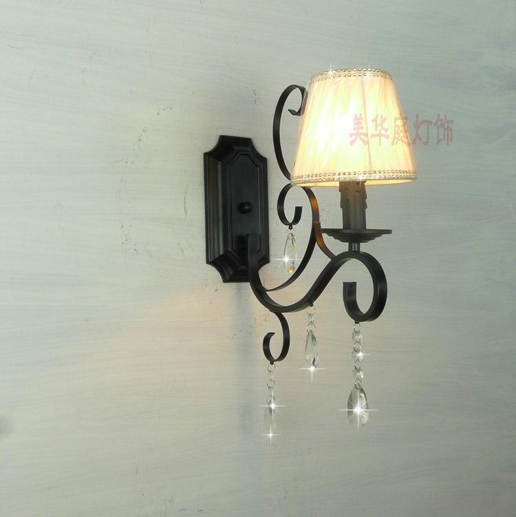 2017 European crystal lighting lamp lens headlight Room Restaurant minimalist retro pastoral wrought iron lamps FG367 american crystal chandelier modern minimalist restaurant bar lamp european retro iron dining led lamps table lighting fixture