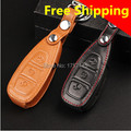 New Car Styling Key Cover For Ford For Focus 3 Kuga/Ecosport/Edge/Mondeo Etc Leather High quality Key Case