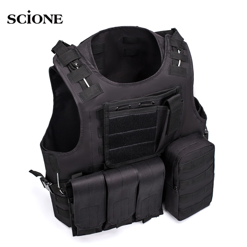 Military Tactical Vest Gilet Tactique <font><b>Molle</b></font> Equipment Army Vests Taktik Yelek veste tactique militaire chaleco <font><b>tactico</b></font> Sac XA48A image