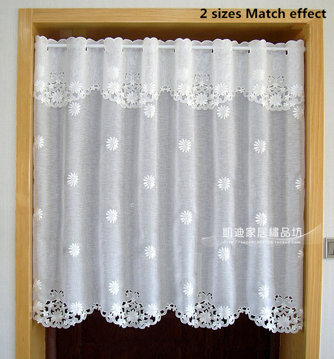 Curtains Ideas curtains for kitchen door window : Hot sale Half curtain Embroidered Window Valance Coffee Partition ...
