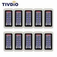 10 шт. клавиатуры RFID Система Контроля Доступа Автономный бесконтактных карт 2000 пользователей дверь Управление доступом Водонепроницаемый