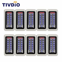 10pcs Keypad RFID Access Control System Proximity Card Standalone 2000 Users Door Access Control Waterproof F9501D