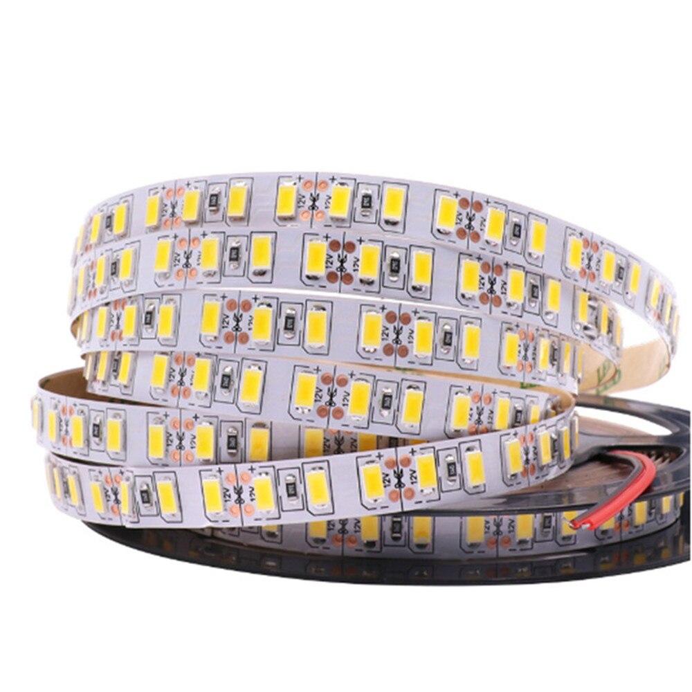 120 leds/m SMD 5730 fita led Flexível luz de tira Conduzida SMD 5630 Impermeável/Não impermeável branco/ branco quente DC12V