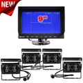 DIYKIT 9Inch Split QUAD Car Monitor + 4 x CCD IR Night Vision Rear View Camera Waterproof for Car Truck Bus Reversing Camera