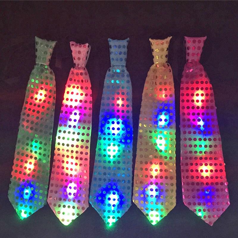 LED Party LED Rave 33 cm Led Krawatte helloween / Hochzeit / - Partyartikel und Dekoration - Foto 4