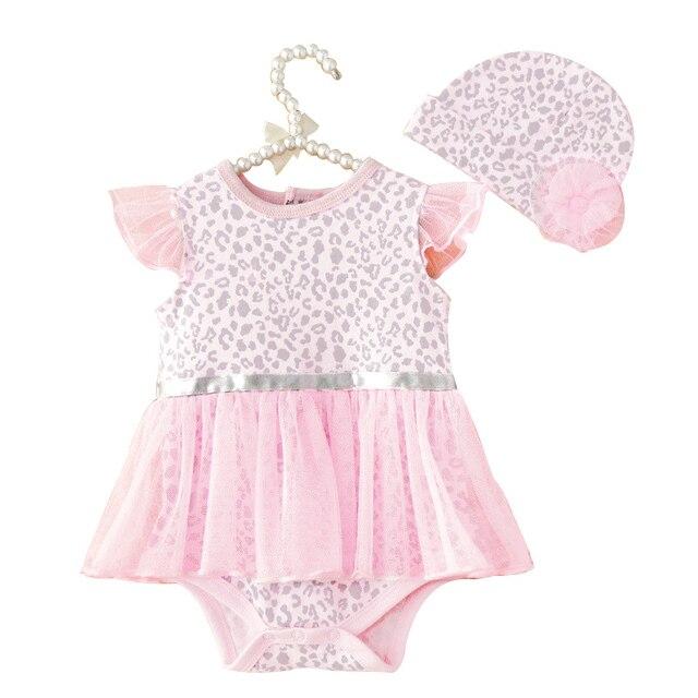 06814c4cf 2017 Summer Hot Baby Girls Bodysuits + Hat Newborn Infant Leopard ...