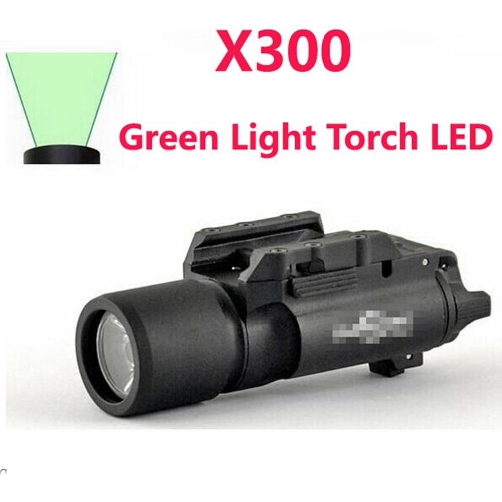 Tactique SF X300 Vert Lumière Torche LED Arme Légère Lumens lampe de Poche Pour La Chasse paintball ht126