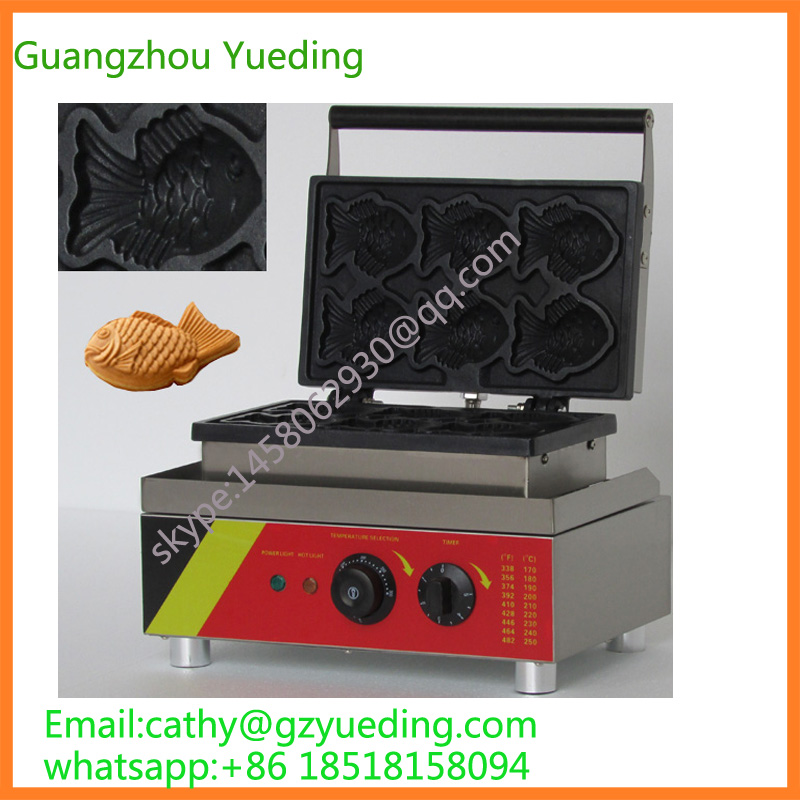 Commercial New Design High Quality Fish Waffle Machine for sell/Stainless Steel Taiyaki Machinery