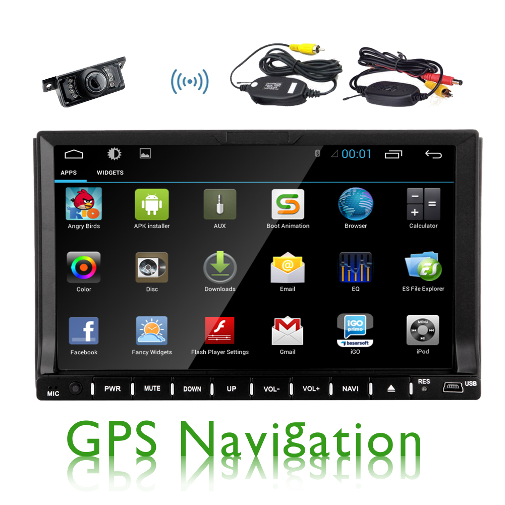 "Quad Core 7"" 2 Din Android 4.4 Fit vw opel golf Car Audio Stereo FM Radio With GPS  Bluetooth WiFi free camera dvd automotivo"