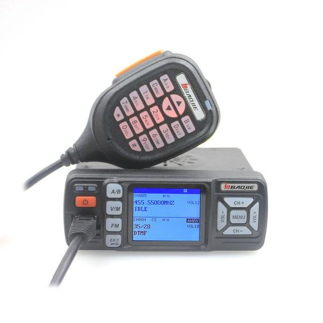 Walkie talkie bajie banda dupla, rádio fm BJ 318 25w para carro 136 174 & 400 490mhz bj318 (versão atualizada de BJ 218)