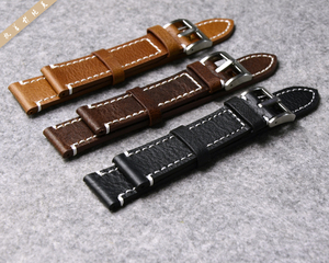 Image 2 - Genuine Leather Watchband Watch Strap for Longines/Mido/Tissot/Seiko 18mm 19mm 20mm 21mm 22mm 23mm Yellow Brown Black Watchbands