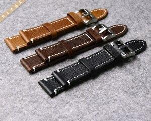 Image 2 - ของแท้หนังสายนาฬิกานาฬิกาสำหรับ Longines/Mido/Tissot/Seiko 18 มม.19 มม.20 มม.21mm 22mm 23mm สีเหลืองสีน้ำตาลสีดำนาฬิกา