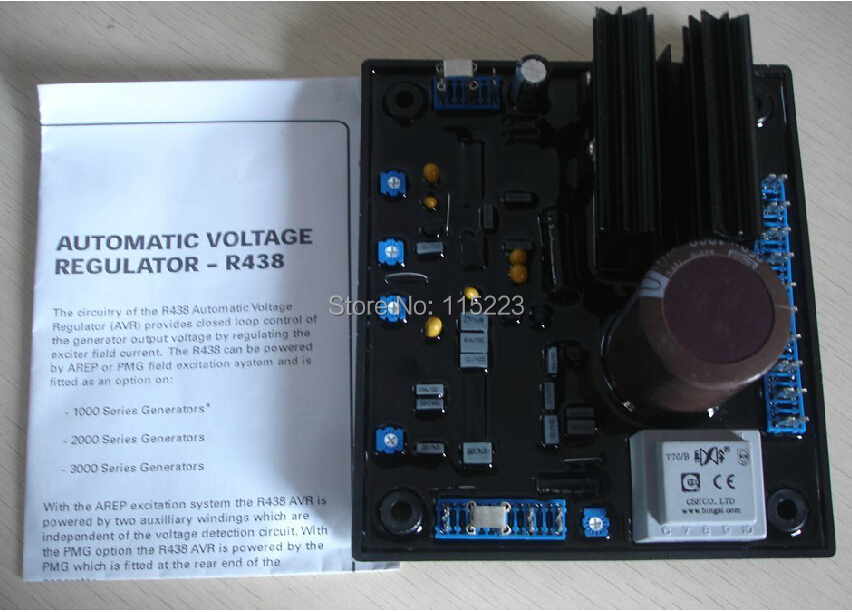 Leroy Somer AVR R438 Generator Voltage Regulator Board sx460 avr generator voltage regulator board black