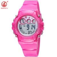 New OHSEN Digital LED Sport Watch Boy S Girl S Children Quartz Alarm Date Back Light