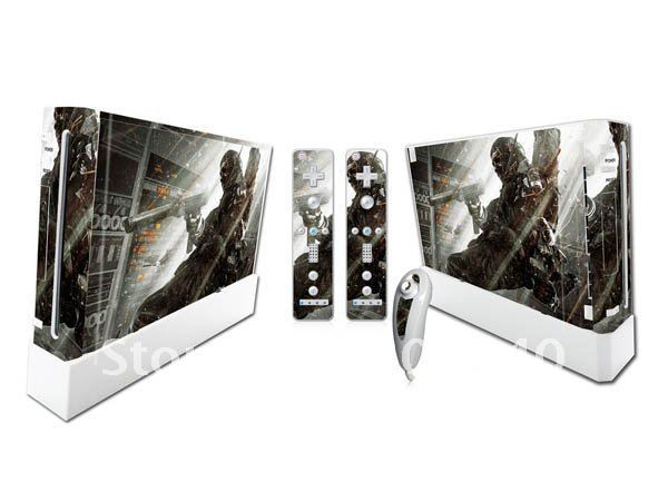 for  WII Color Vinyl Decal Removable NO Sticky residue Skin Sticker from Manufacturer!Gift retail packing Package