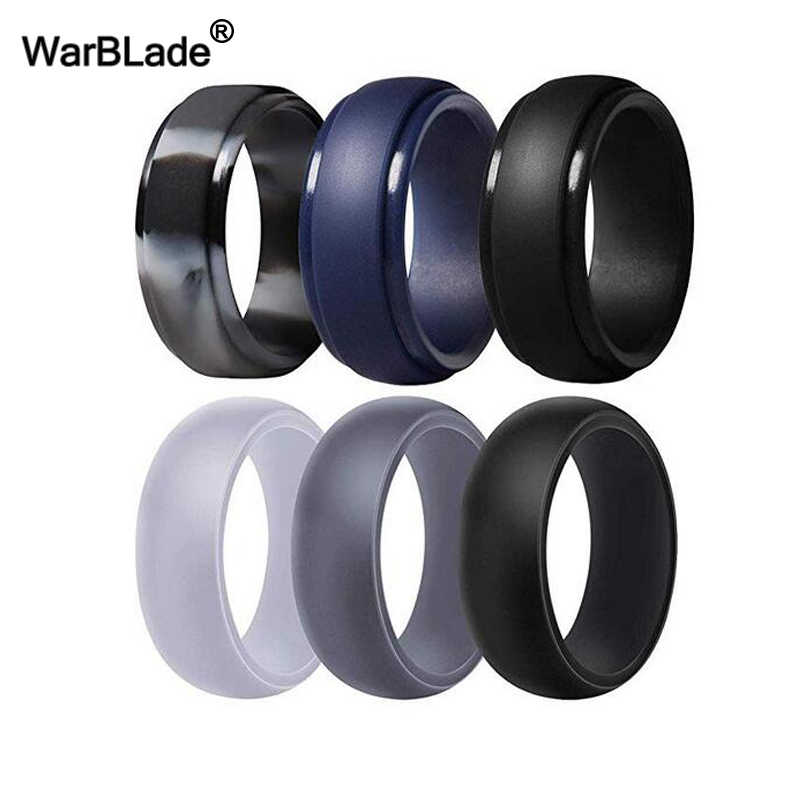 WBL 3pc/set Men Women Silicone Ring Food Grade FDA Silicone Finger Ring Hypoallergenic Flexible Sports Antibacterial Rubber Ring