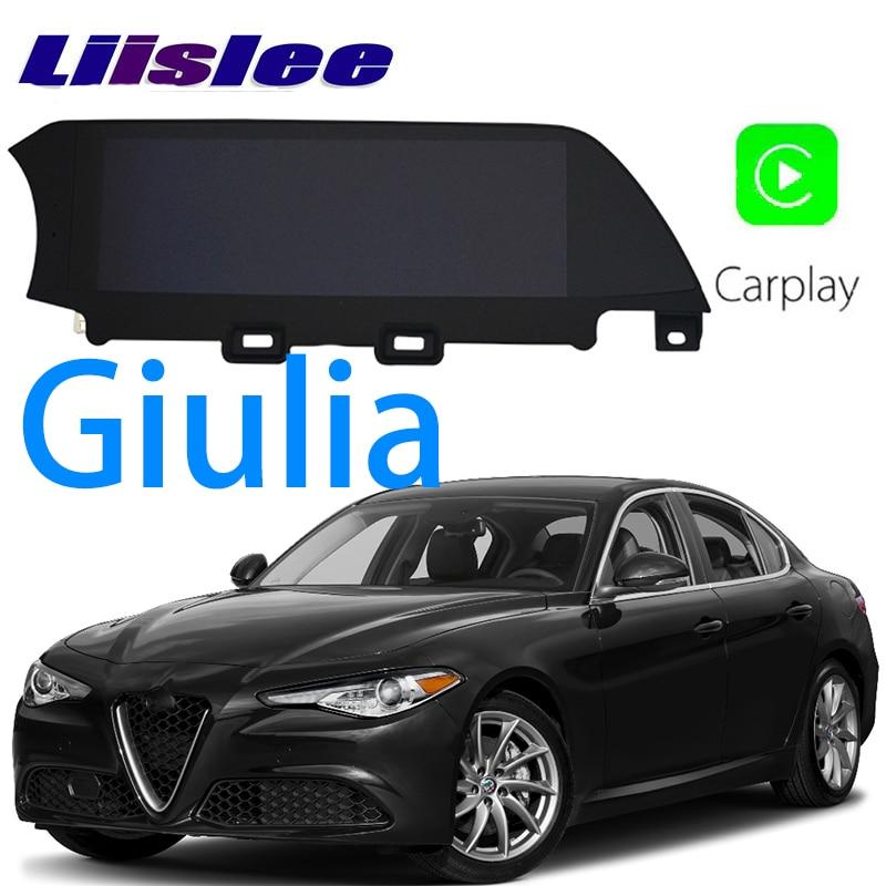 LiisLee Car Multimedia GPS HiFi Audio Stereo Radio Per Alfa Romeo Giulia 2016 ~ 2018 Originale Stile di Navigazione NAVI