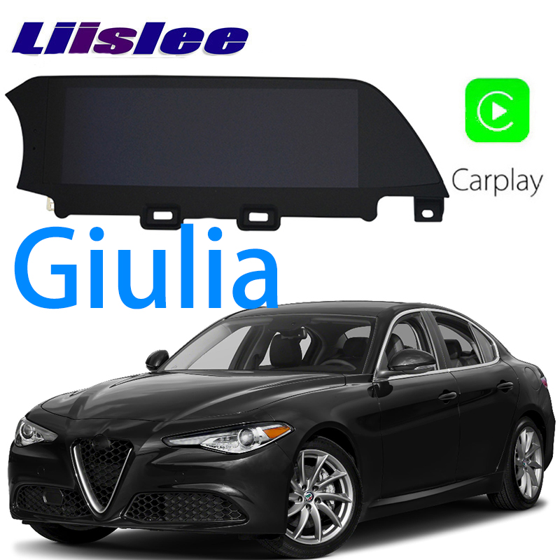 LiisLee voiture multimédia GPS HiFi Audio Radio stéréo pour Alfa Romeo Giulia 2016 ~ 2018 Style Original Navigation NAVI
