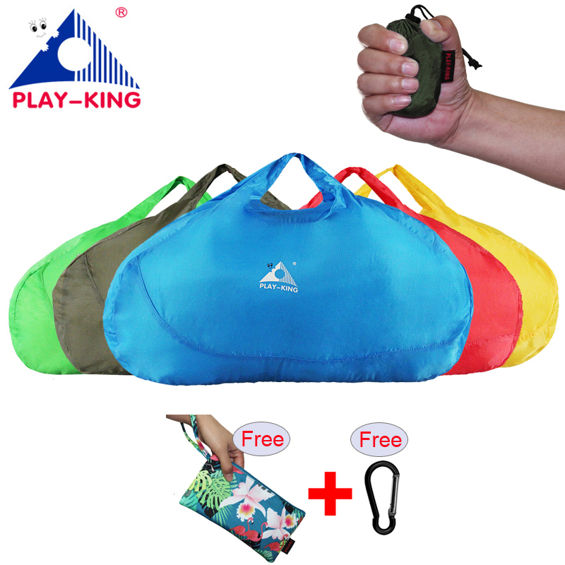 PLAYKING Outdoor Waterproof Travel Luggage Bag Women Folding Ultralight Sport Gym Bag Men Nylon Lightweight Foldable Large Bag