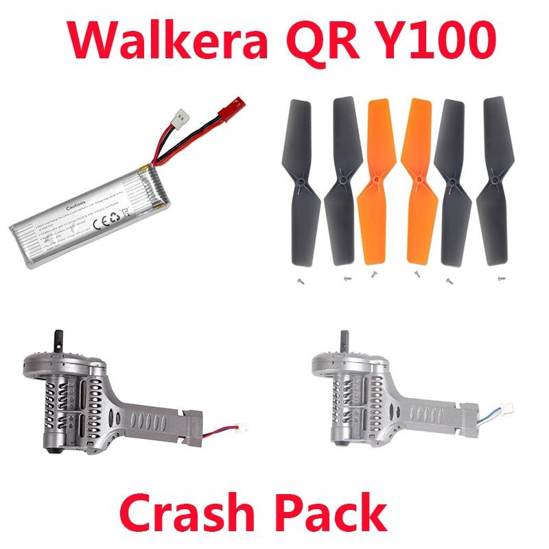 (In stock) Walkera QR Y100 Crash Pack ( Battery+Propellers+Motor Clockwise + Motor Counter Clockwise) Free Shipping