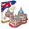 St Paul's Cathedral 3D Puzzle Brinquedos Crianças Brinquedo Educativo DIY Modelo de Papelão Brinquedos Criativos para Crianças Presentes